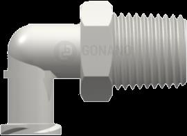Fitting femail 90° 1/8-27 NPT white
